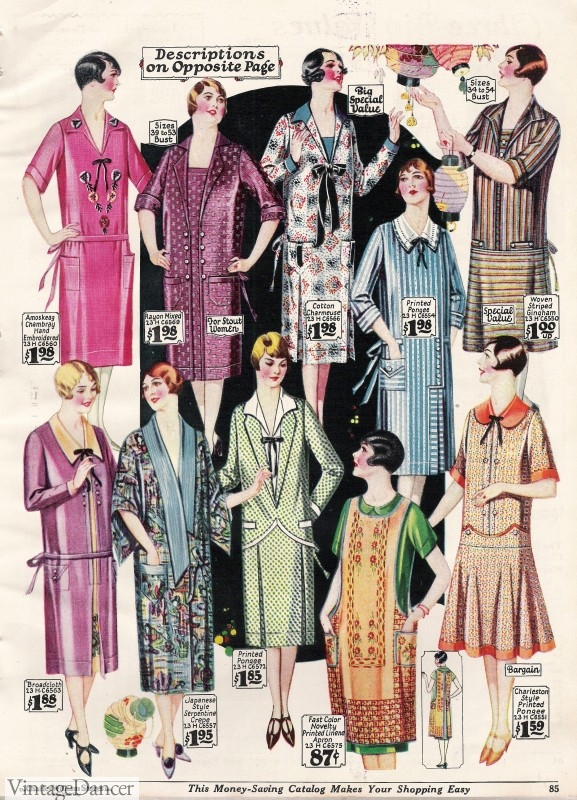 1920s day house dresses and aprons for Fashion for home uk