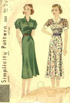 Examples Of 1930s Dresses Catalog And Pattern Pictures