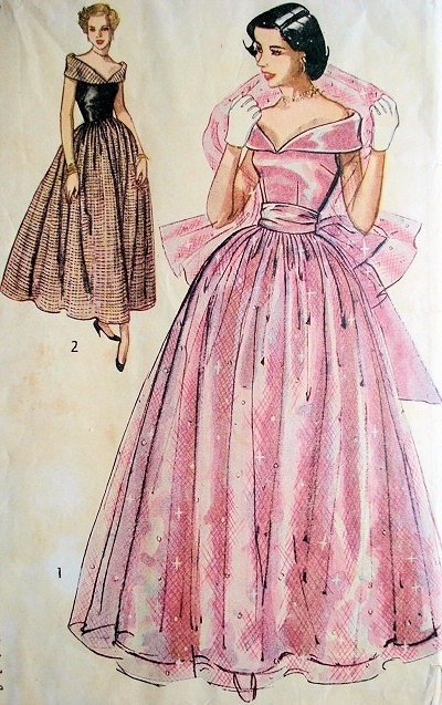 1940s Formal Dresses- Prom Dresses- Cocktail Dresses History
