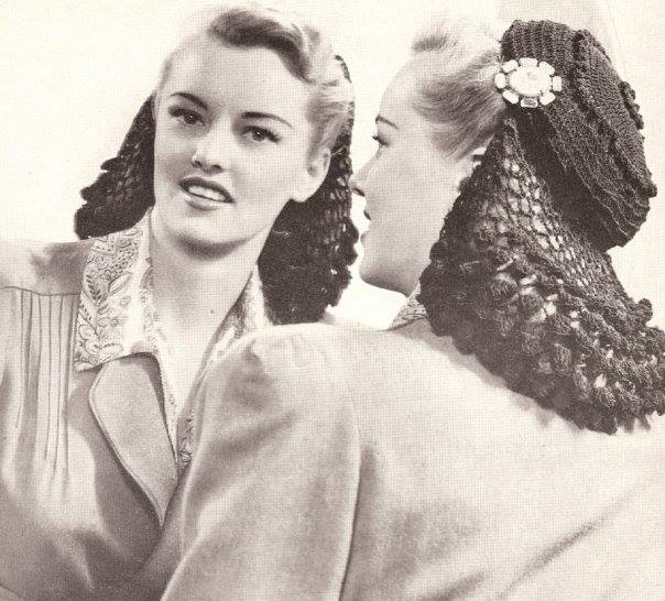 1940s Hair Snoods  buy, knit, crochet or sew a snood