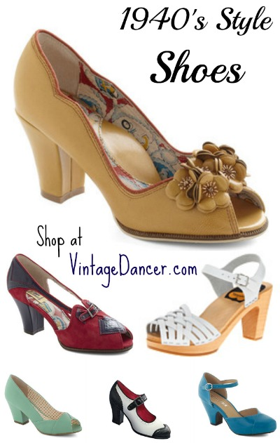 1940s Womens Shoes Styles