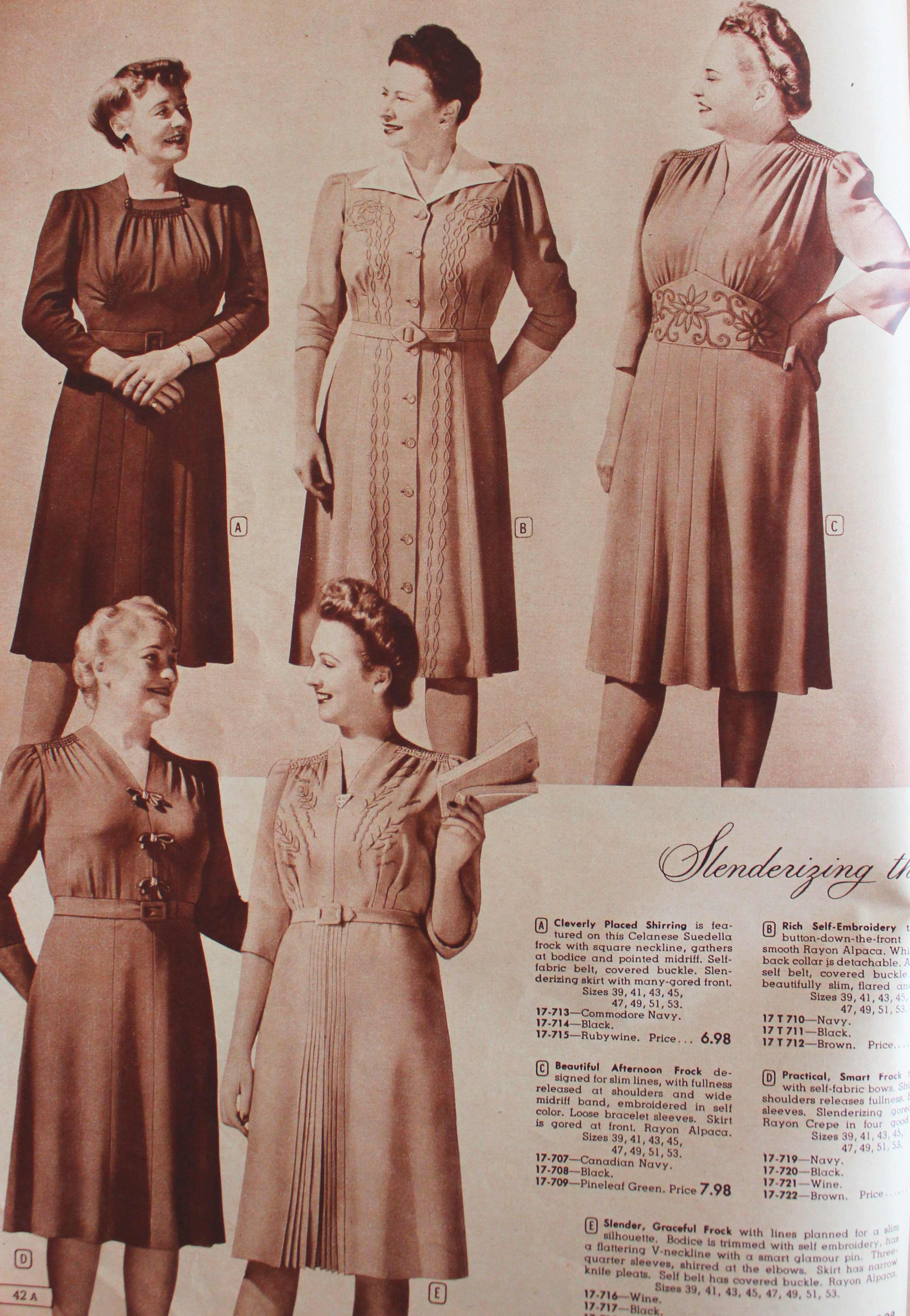 1940s Plus Size Clothing Dresses History