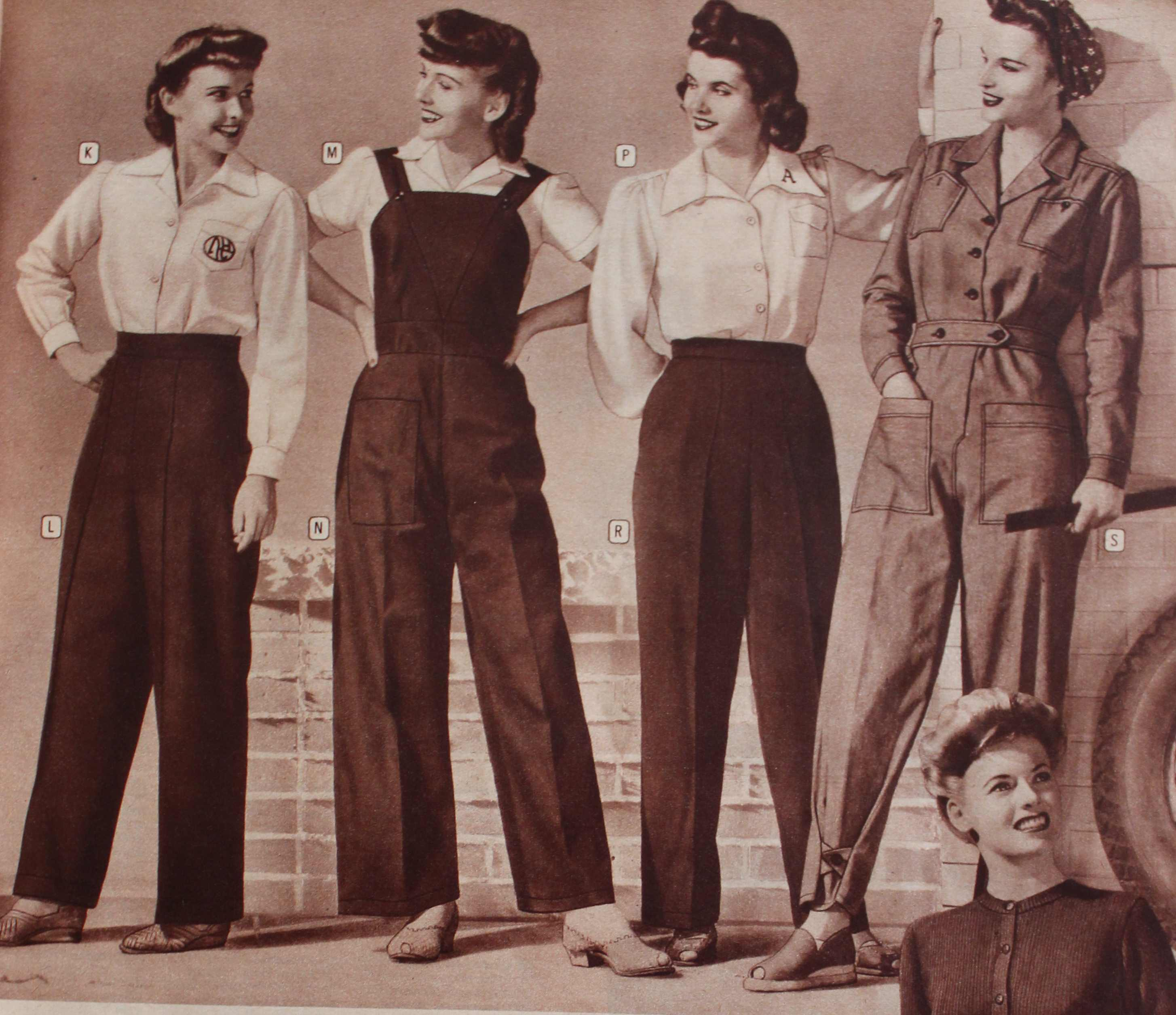 1940s Ladies Workwear Clothes Rosie 39 S To Nurses