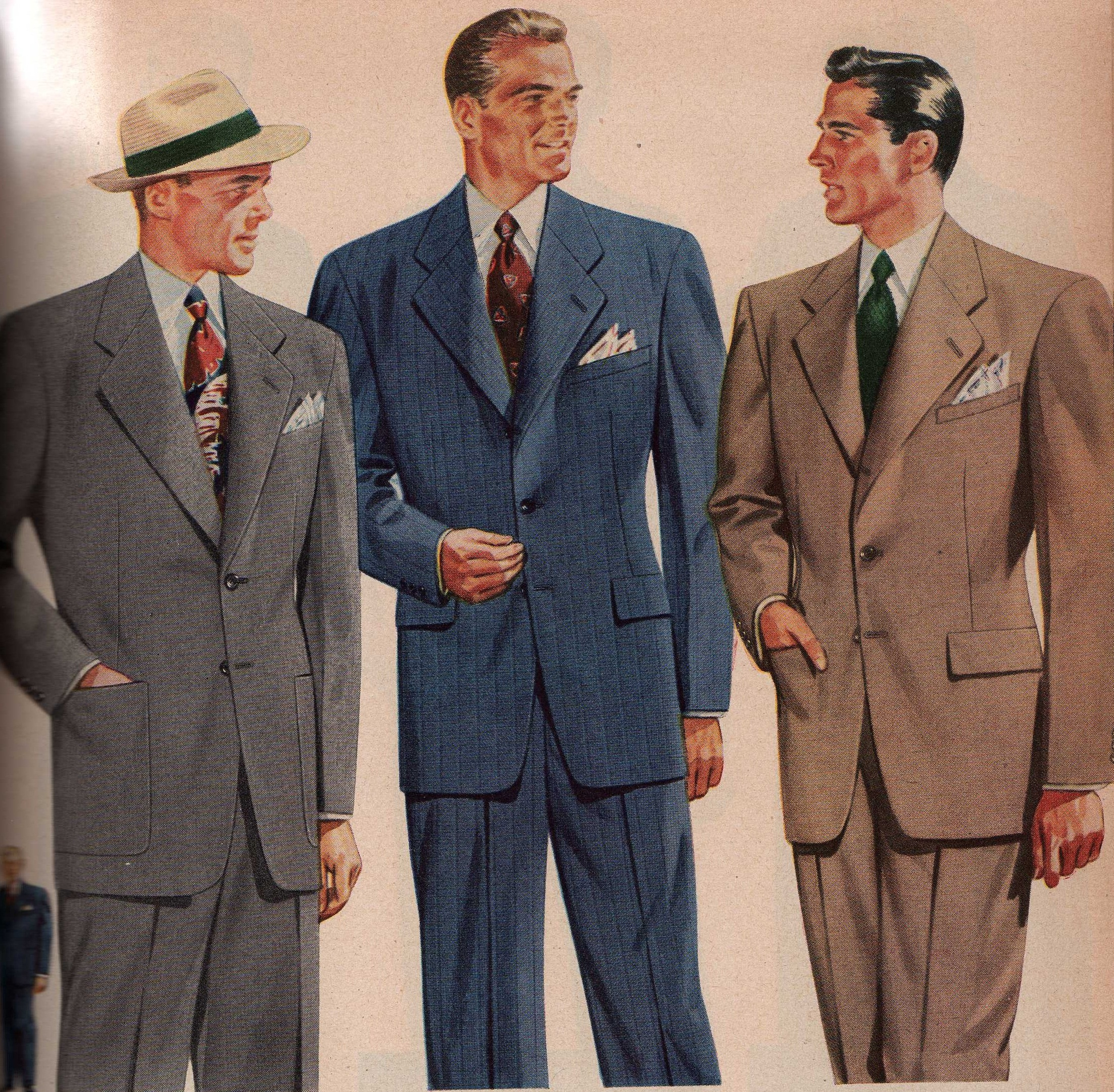1940s Men S Fashion Guide Vintagedancer Com