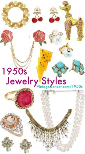 new 1950s costume jewelry retro accessories