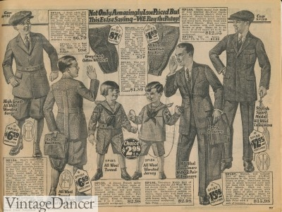 1920s boys and teen fashion
