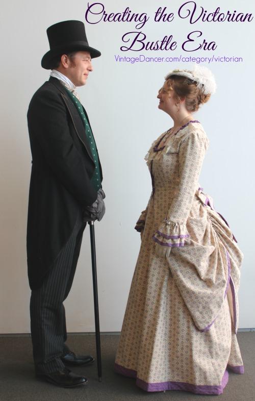 create a victorian bustle era dress costume