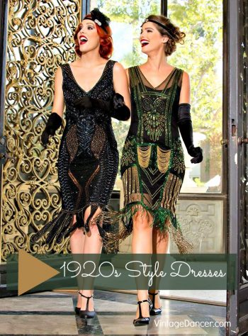 1920s Style Dresses Flapper Day At Vintagedancer Com