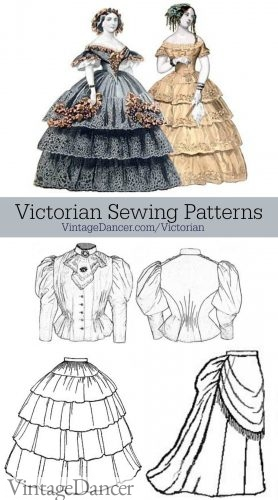 Victorian Sewing Patterns Dress Blouse Hat Coat Skirts
