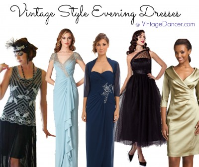 vintage style evening dresses gowns fashion