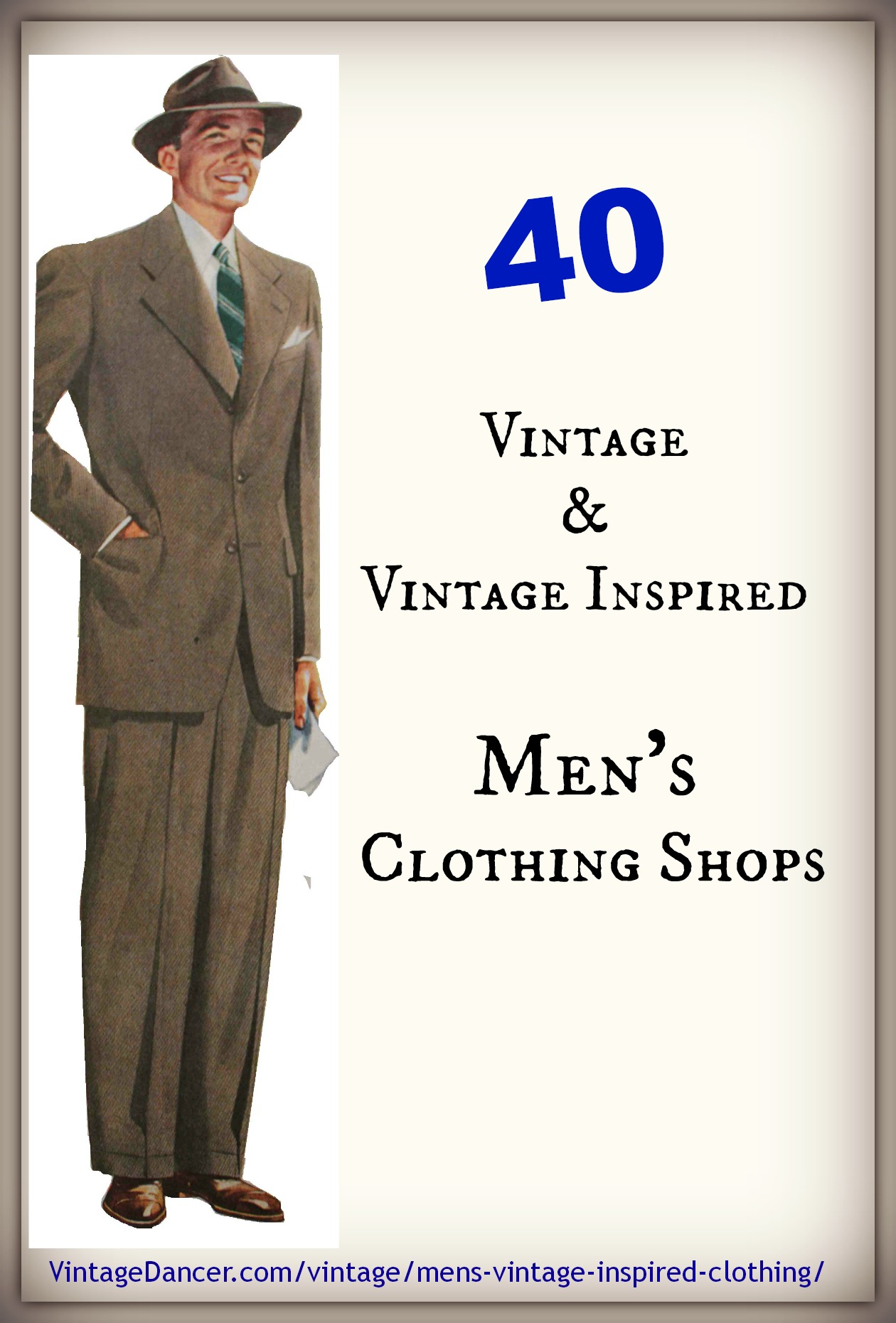 Vintage clothing stores online men