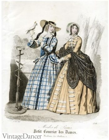1847 Middle to Upper Class Women's Day Dresses