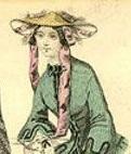 1850 Victorian flat top hat