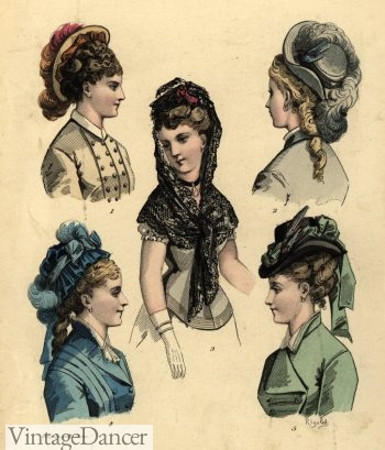 Late 1870s hats