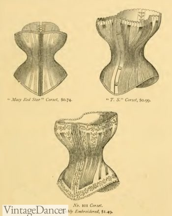 1870s Victorian Corsets, 1877 Macy