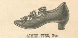 1879 bow tie ribbon shoes