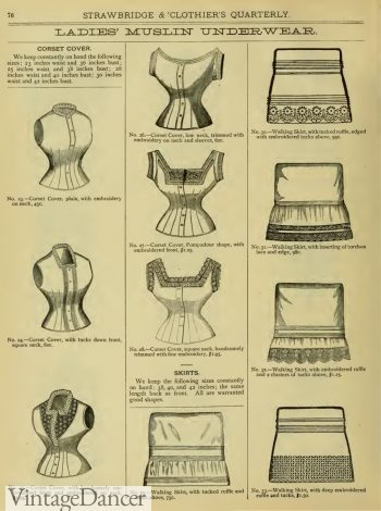 Victorian underwear corset covers