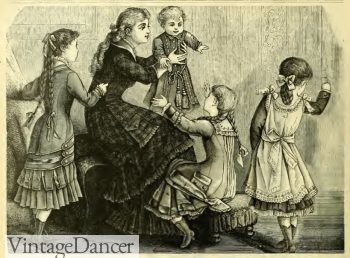 1883 Victorian children's fashion and clothing