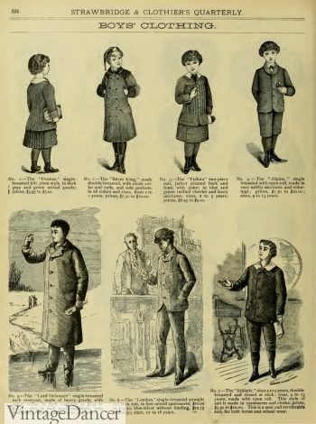 1883 Victorian boys fashion and children's clothing