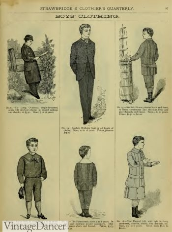 1883 Victorian boys suits, clothing, fashion