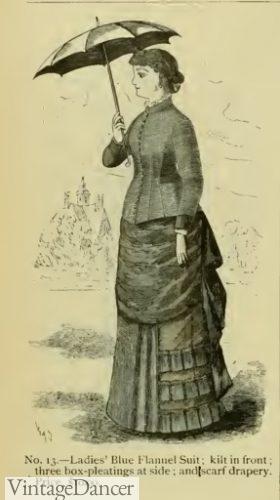 1883 bustle dress Victorian fashion