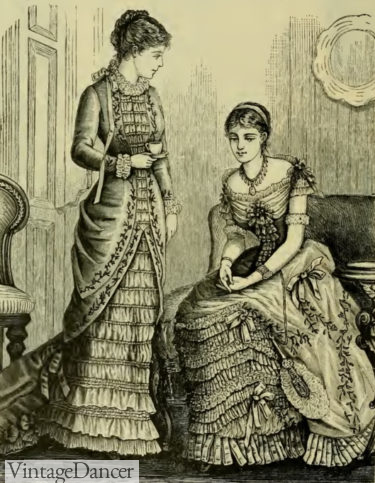 1883 lace trimmed ball gown (R)