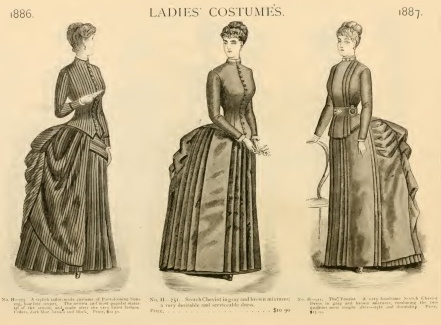 1886 bustle dresses