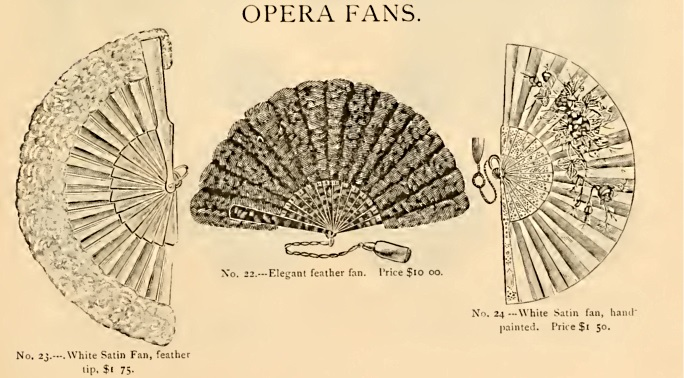 1886 Victorian feather fans