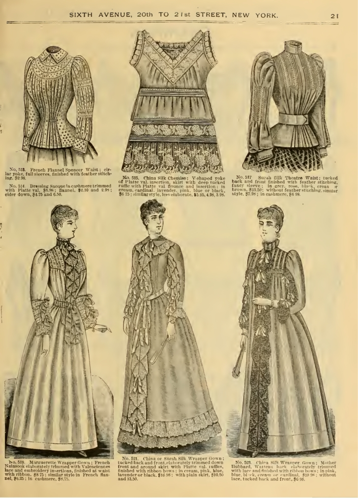Victorian Nightgowns, Nightdress, Pajamas, Robes