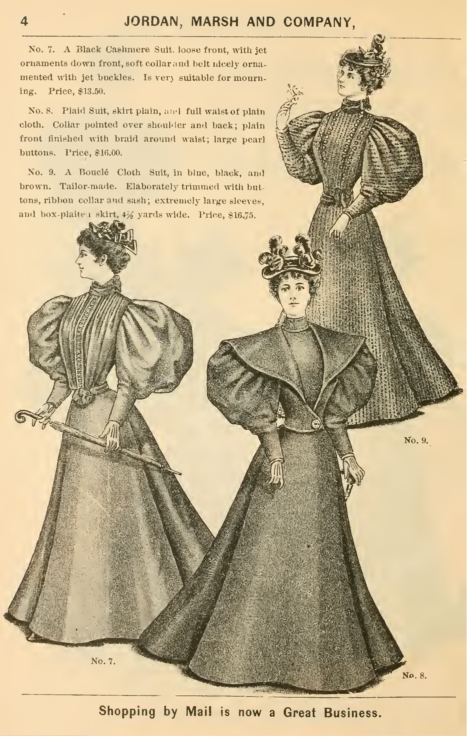 1895 ladies suits, Victorian, Gibson Girl era