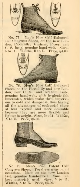 1895 lace up men's Victorian boots