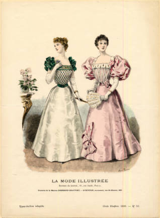 1895 evening gowns