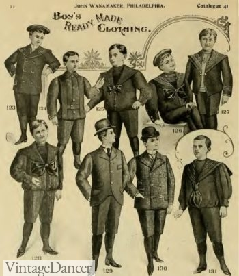 1896 Victorian boys clothing suits