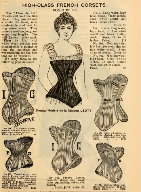 1897 French corsets Victorian Corsets