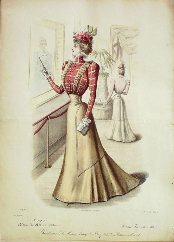 1898 blouse and skirt
