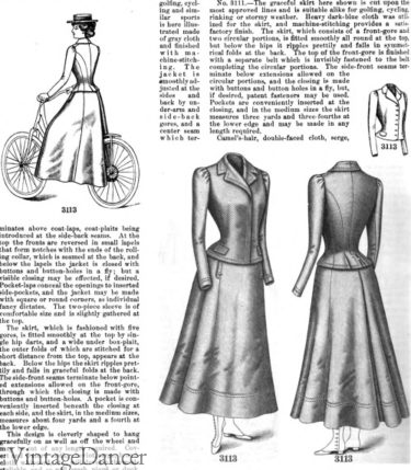 1899 bicycle suits clothing outfits riding golf