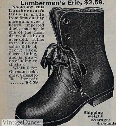 1900 Lumberman's boot (gum rubber coated duck cloth)