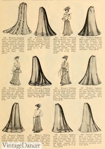 1903 Skirts. Click to see more Edwardian skirts.