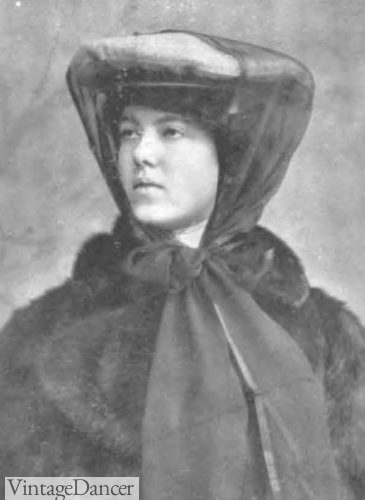 1904 sailor hat with scarf