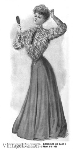 1905 skirt with blouse- Gibson girl style
