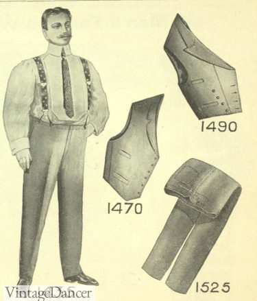 1905 mens trousers and vests