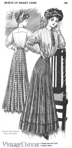 1908 practical skirts