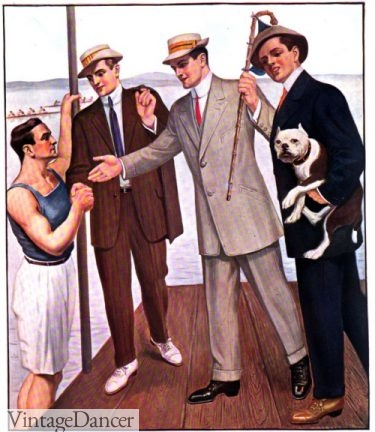 1908 mens summer outing suits