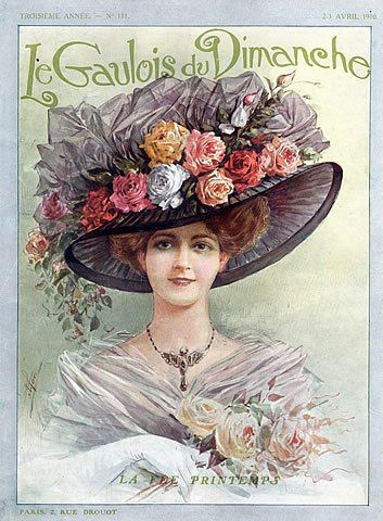 1910 Garden hat, tea hat ad