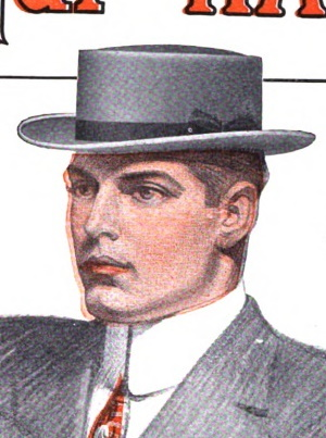 1910 a handsome oval crown hat