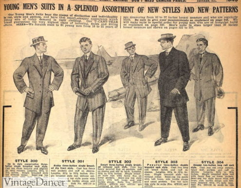 1910 teen or young men's suits (ages 16-21)