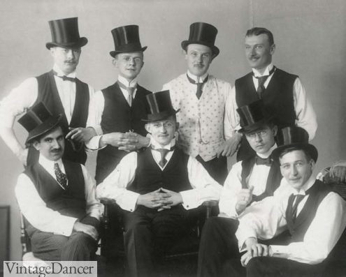 1910 - a Stag party with men in top hats