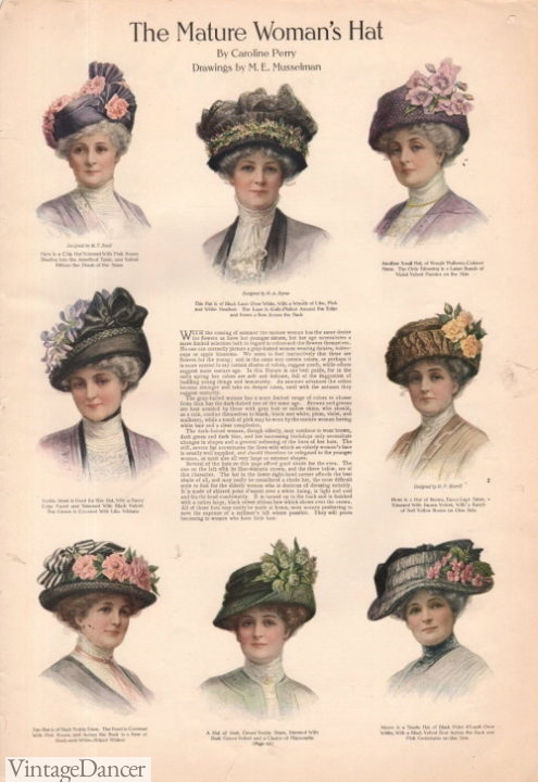 1911 hats for mature ladies