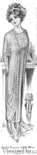 1911 tea gown (worn without corset)