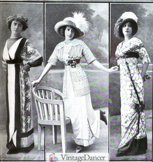 1911 late afternoon and early evening dresses